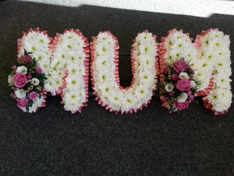 MUM letter Tribute